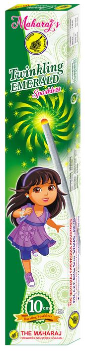 10cm Twinkling Emerald Sparklers