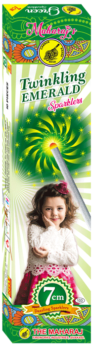 7cm Twinkling Emerald Sparklers