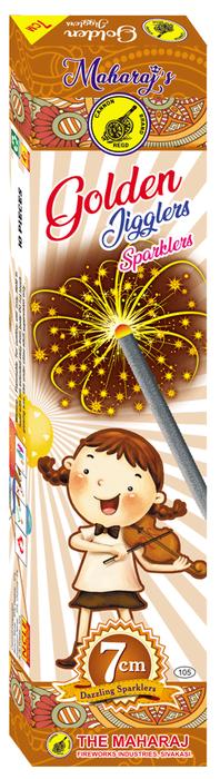 7cm Golden Jiggler Sparklers
